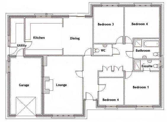 split bedroom house plans for 1500 sq ft 4 bedroom house ebay