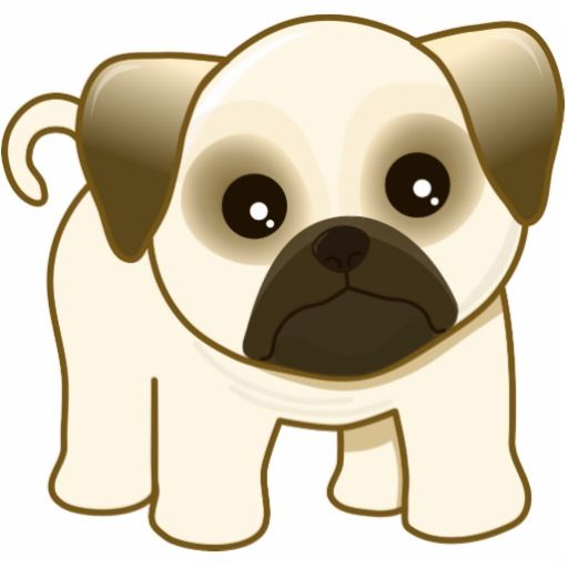 cute cartoon animals kawaii cute little pug puppy dog