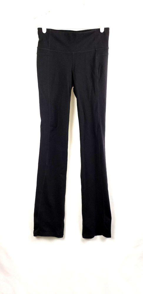 ATHLETA Womens Sz MT Black Yoga Pants RN 54023 ~ EUC