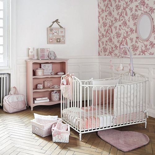 discover maisons du mondes metal baby cot in off white w browse our stylish affordable products for kids and make your house a home order online today