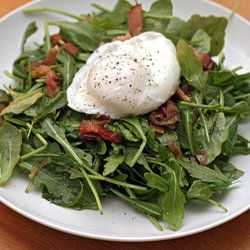 salad poached eggs bacon salads warm food sites bacon salad eggs new ...