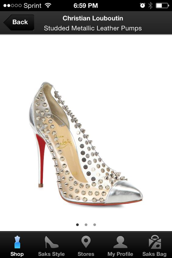 Love for Loubs. Clear with silver studs