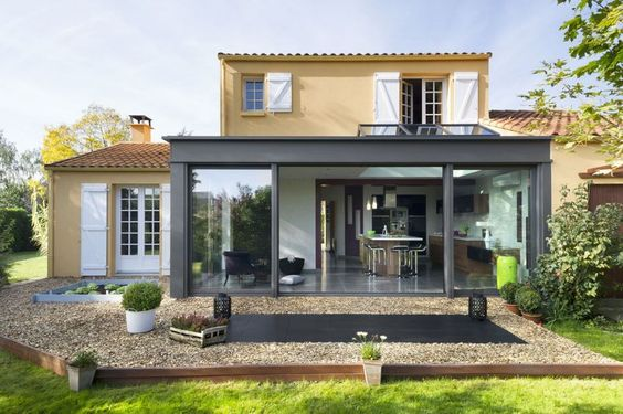 veranda concept alu gamme extanxia maison etage avec