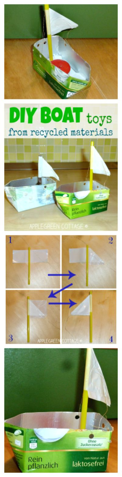 Diy boat fun day and recycled materials on pinterest for Diy from recycled materials