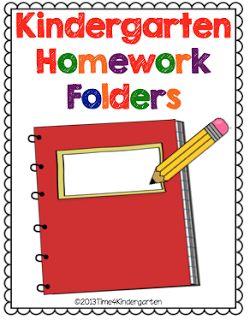 Time 4 Kindergarten homework folders to make homework easier