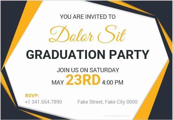 Graduation Invitation Templates Microsoft Word Unique 10 Best Graduation Party Inv Graduation Card Templates Party Invite Template Graduation Party Invitations
