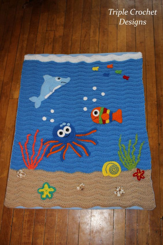 Crocheted Under The Sea Blanket Under The Sea Crocheted