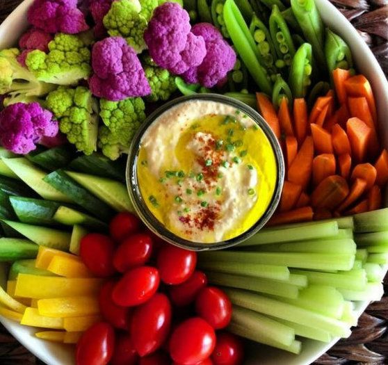 Spring Veggie Platter with Hummus