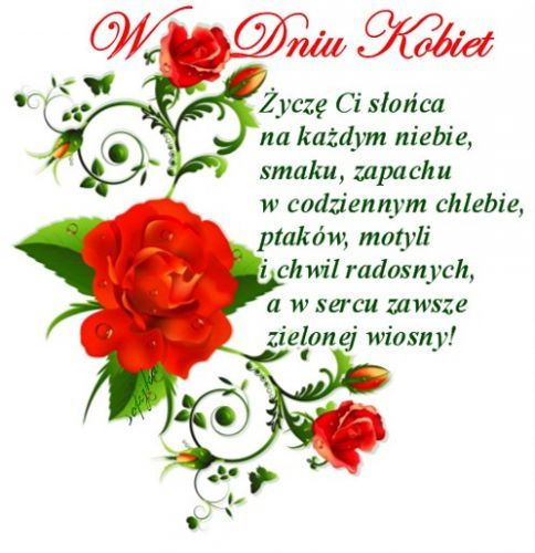 Zyczenia Na Dzien Kobiet Sunday Greetings Have A Blessed Day Blessed Sunday