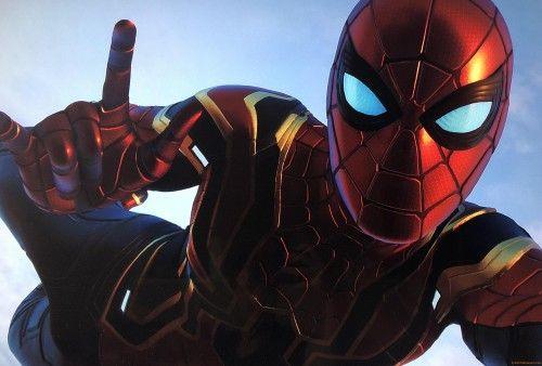 Iron Spider Selfie 4k Wallpaper