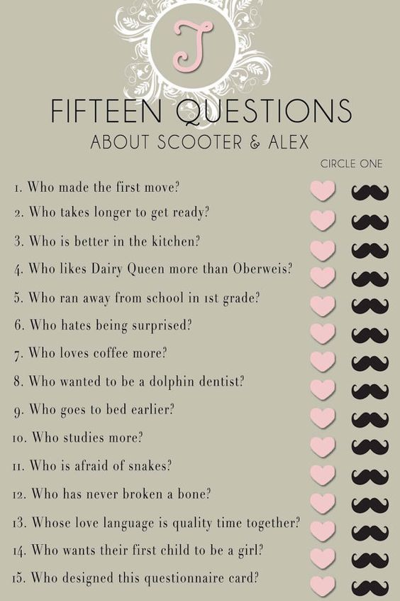 templates for bridal shower games - bridal shower questionnaire template found on a