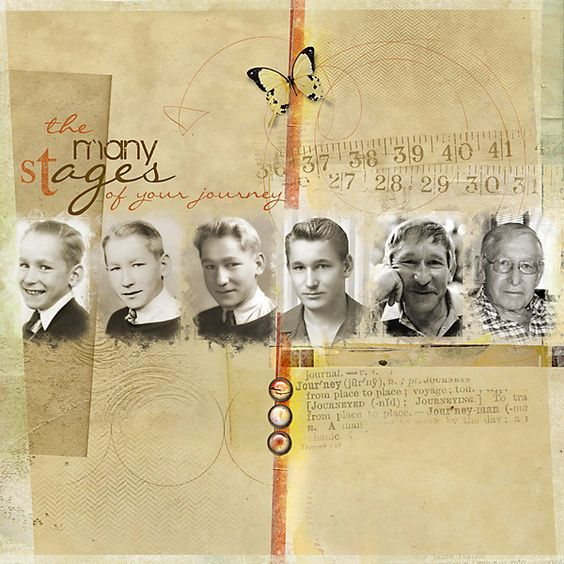 family history layout inspiration scrapbook page the many stages of your journey
