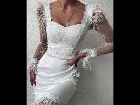 سلسلة تشريح فساتين 2020 فستان الريش الأبيض Youtube Wedding Dresses Lace Wedding Dresses Dresses