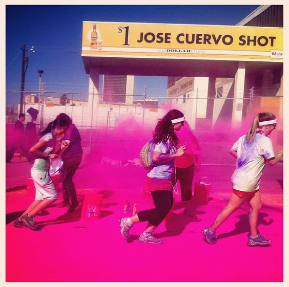 The Color Run Vegas Jose Cuervo drink station.  oh my gosh i can't wait.