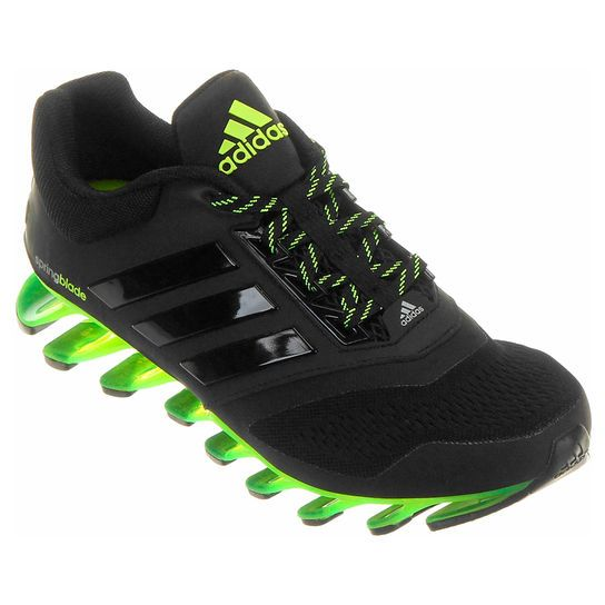 adidas springblade preto e verde