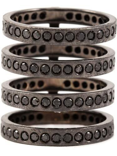REPOSSI diamond four row ring #accessories #women #covetme #repossi