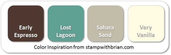 Stampin' Up! Color Inspiration: Early Espresso, Lost Lagoon, Sahara Sand, Very Vanilla: