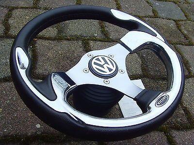 CHROM-Sportlenkrad-VICTOR-33er-Nabe-VW-Golf-3-2-1-Cabrio-Polo-86C-6N-Corrado-ABE