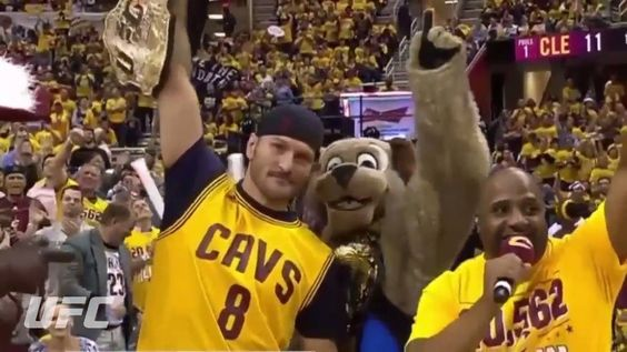 From one champion to another, the Cleveland Cavaliers are rooting for you, Stipe Miocic, tonight at the Quicken Loans Arena! #UFC203