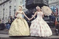 Ball Gowns in Brocade. Something...different.