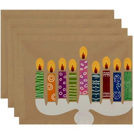 Simply Daisy 18 inch x 14 inch Festival of Lights Geometric Print Placemat, Brown