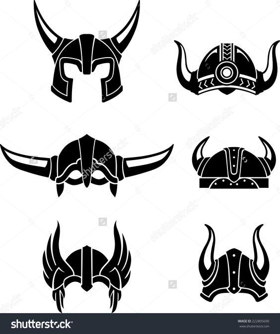 viking helmet set protective head gear or equipment in