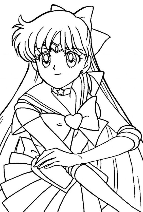 Sailor Moon Coloring Pages Free Online Coloring Books Sailor
