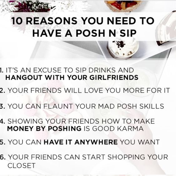 Posh N Sip Benefits Have you signed up to become a host yet? Bags