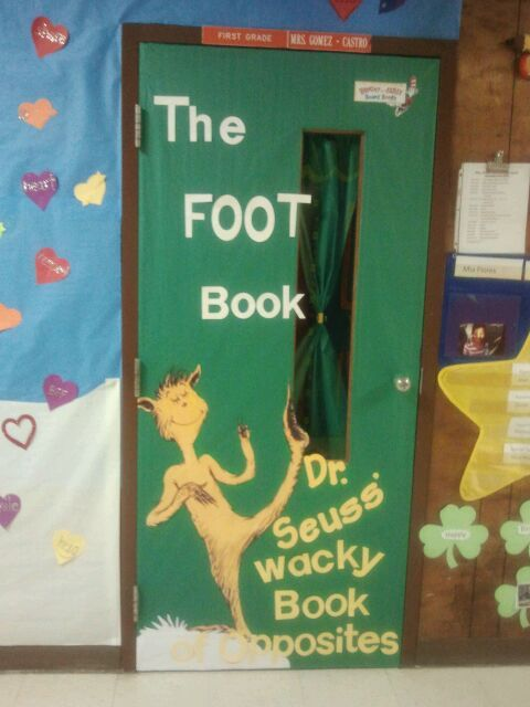 Book Cover Decoration Ideas ~ The foot book cover school door decorations