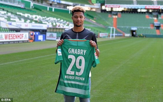 Werder Bremen have completed the signing of former Arsenal midfielder Serge Gnabry