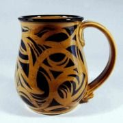 Celtic Pottery Mug ..love this!: Pottery Ideas, 18 Oz, Celtic Design, Cups Mugs, Ceramic Cups, Handpainted Brown, Coffee Mugs