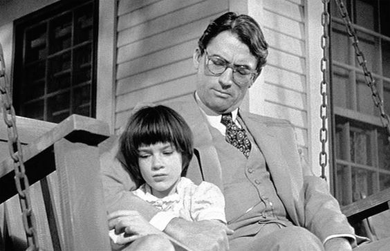 To Kill a Mockingbird by Harper Lee (1960) was turned into a film in 1962 starring Gregory Peck. Lee won a Pulitzer for her novel and Peck won an Oscar for his role. Request it at http://eisenhowerlibrary.org/ or by calling the Answers Desk at 708.867.2299
