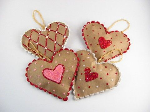 Valentine Paper Bag Hearts
