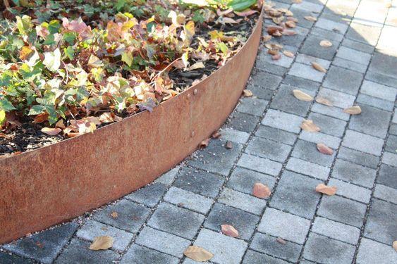 Landscape Edging Rustic : Corten steel landscape architecture and lawn edging on