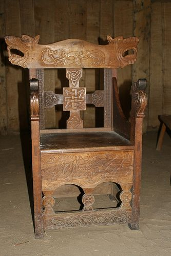 Nice vikings and chairs on pinterest for Viking chair design