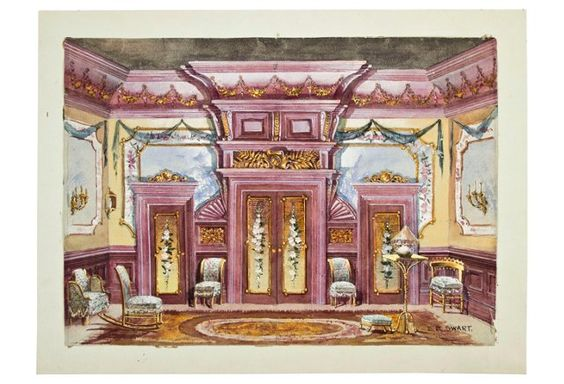 Set Design, Watercolor & Gouache C. 1900
