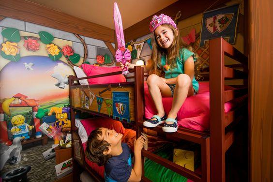 Royal Princess themed room at the LEGOLAND Castle Hotel.