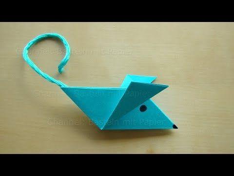 Origami Maus Falten Einfache Maus Basteln Mit Papier