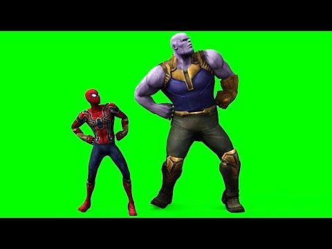 Spiderman And Thanos Dancing Green Screen Youtube Greenscreen Green Screen Video Backgrounds Spiderman Dancing