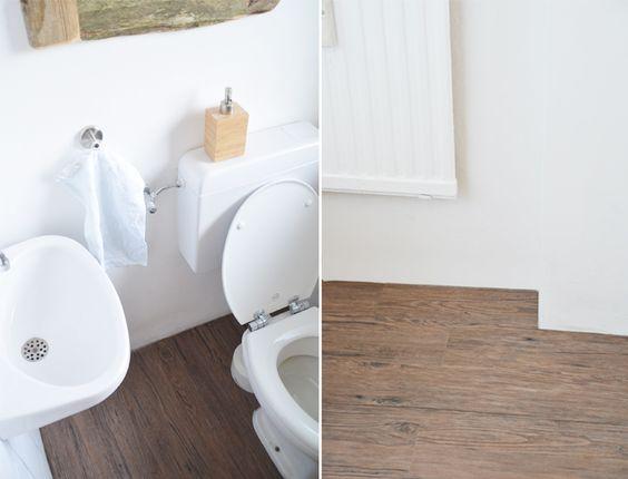 Bad Make Over kleines Bad Toilette Renovieren Fliesen bekleben und Spiegel mit Holzrahmen selber machen DIY wodden mirror Do it yourself interior and home deko: https://bonnyundkleid.com/2016/02/spiegel-mit-holzrahmen-selber-machen/