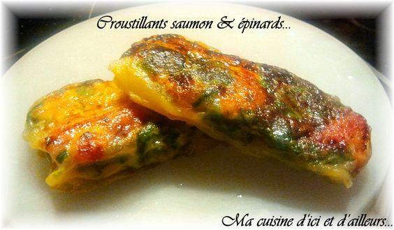 Croustillants saumon et épinards