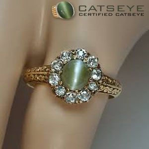 Cats Eye Gemstone Ring For Women Cat Eye Jewelry Cat Rings Jewelry Jewelry Rings Diamond
