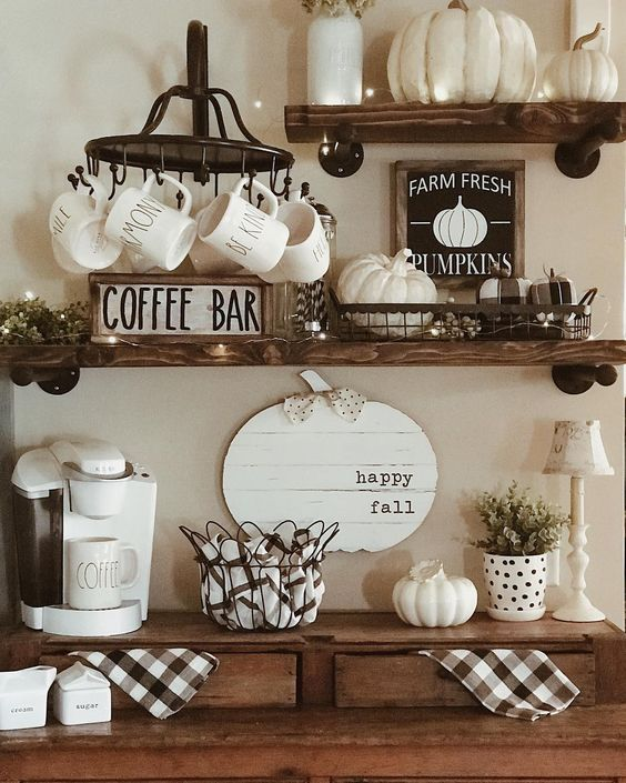 30 Stunning Coffee Bar Decor And Accessories You Need Coffee Bar Home Coffee Bars In Kitchen Coffee Bar Design