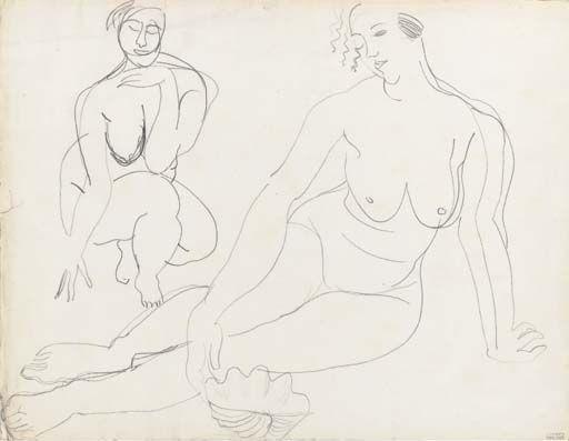 Woman with Seashell - Raoul DufyFrench 1877-1953Drawings