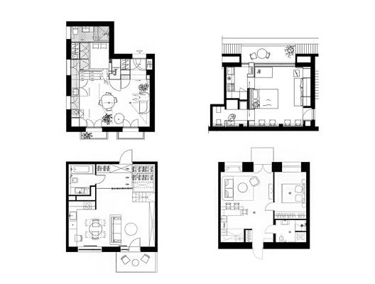 House Plans Under 50 Square Meters 26 More Helpful Examples Of Small Scale Living Square House Plans Micro House Plans Small Craftsman House Plans
