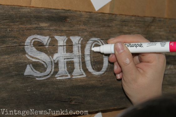 Barn wood sign paint pens wood signs and lettering for Paint pens for wood crafts