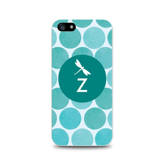 OTM Critter Collection iPhone 5 Case, DOTS, Teal Dragonfly- Z