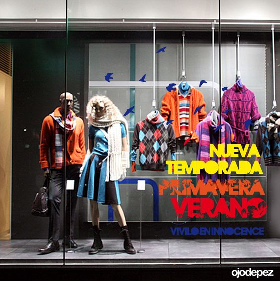 Vinilo Primavera Verano 020: Vinilos decorativos Primavera Verano Vinilos adhesivos vidrieras escaparates show window Window Display Wall Art Stickers wall stickers