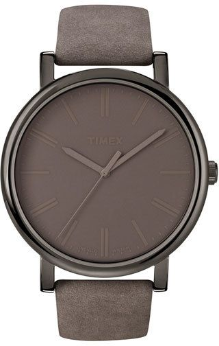 Timex ® 'Easy Reader' Leather Strap Watch