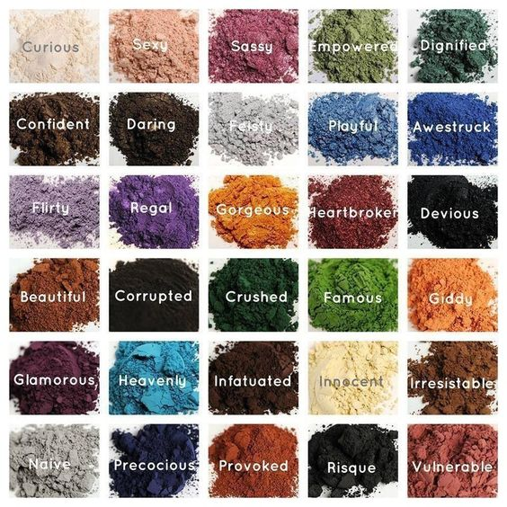 Here are some of our rich luscious mineral eye pigments! Are they not gorgeous?  ONLY $10 .. Can't beat that!